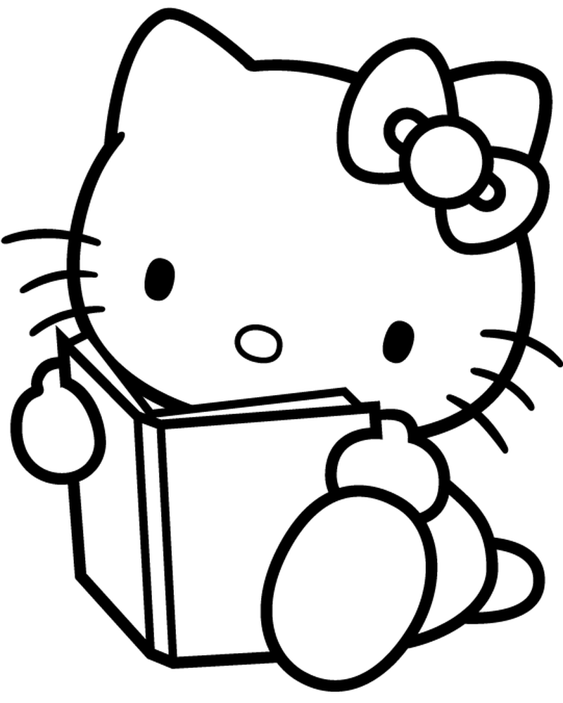 Free Coloring Pages Of Lo Kitty Co